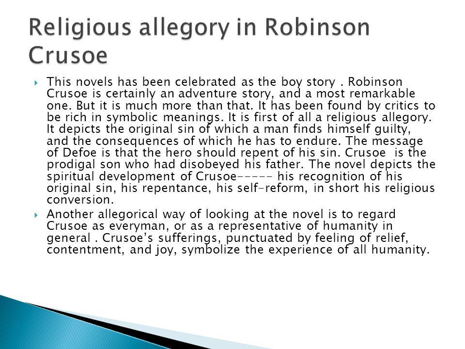 Religious allegory in Robinson Crusoe