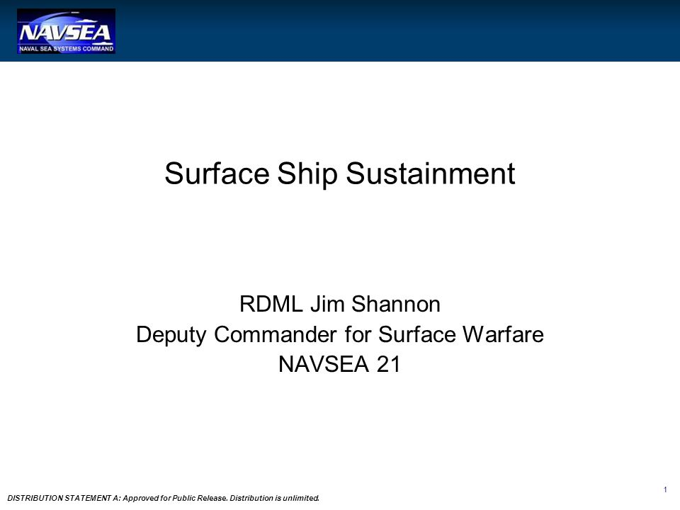 Surface Ship Sustainment
