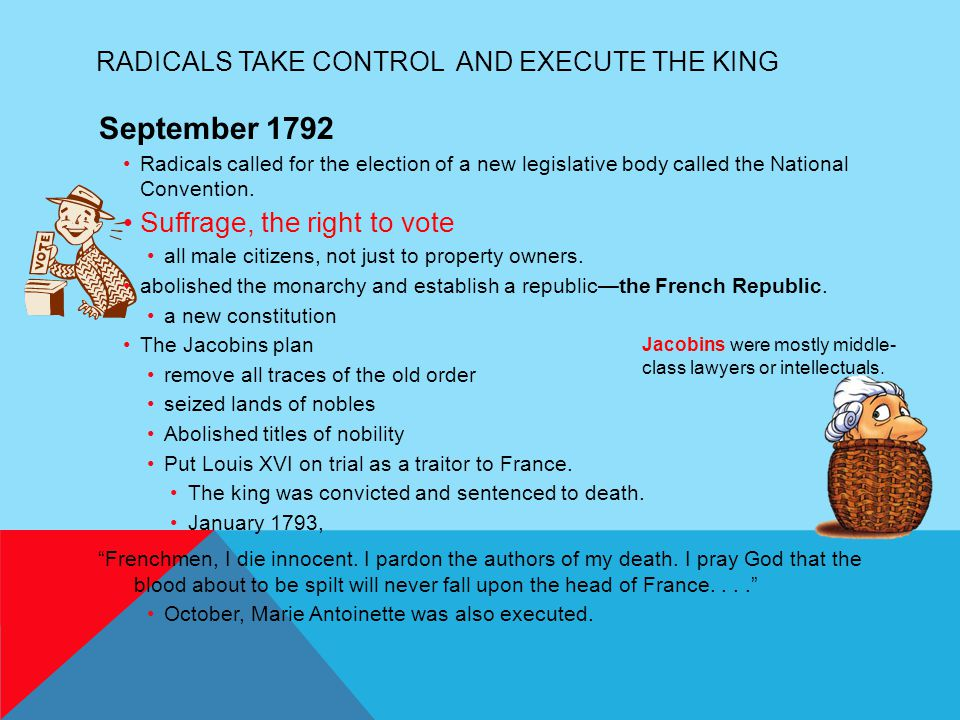 Radicals Take Control and Execute the King