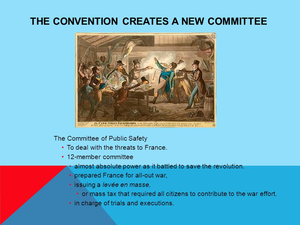 The Convention Creates a New Committee