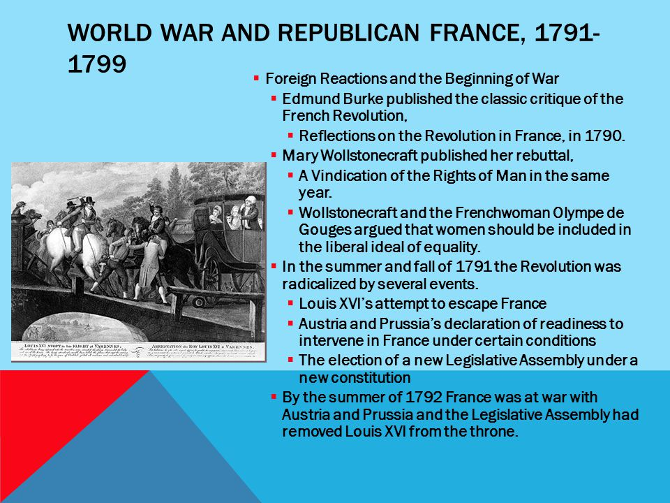 World War and Republican France, 1791-1799
