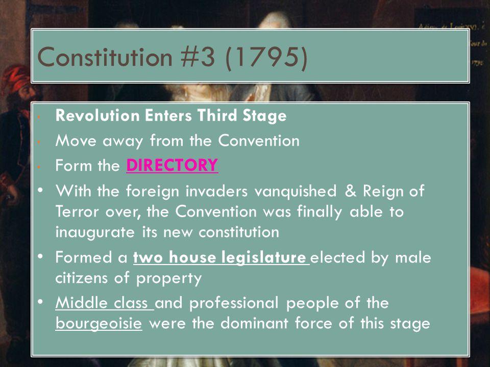 Constitution #3 (1795) Revolution Enters Third Stage