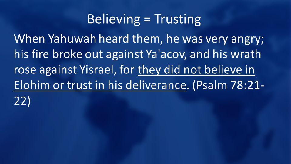 Believing = Trusting