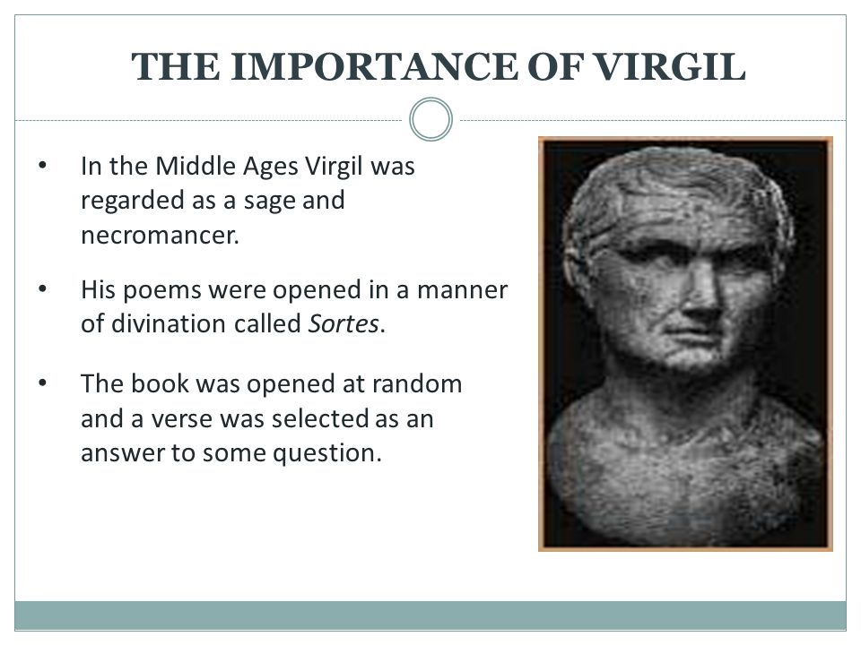THE IMPORTANCE OF VIRGIL