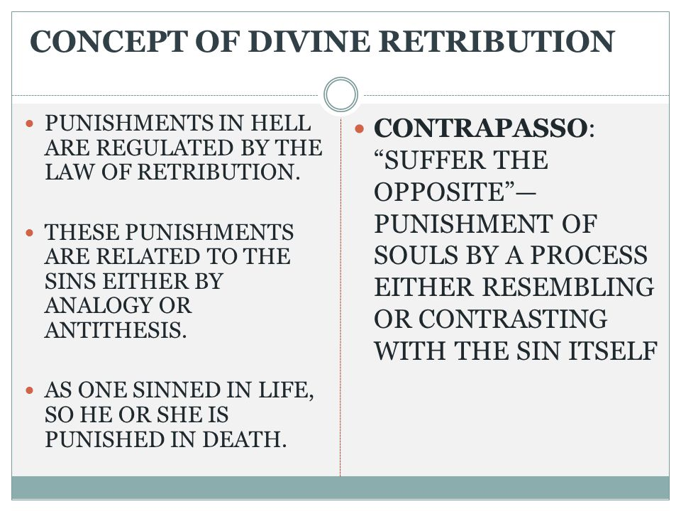 CONCEPT OF DIVINE RETRIBUTION