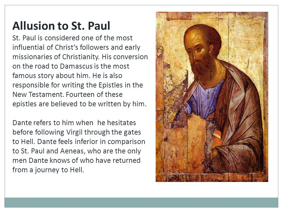 Allusion to St. Paul