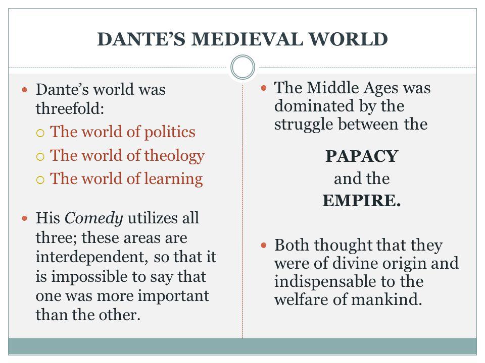 DANTE'S MEDIEVAL WORLD