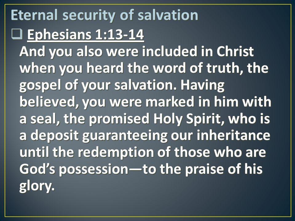 Eternal security of salvation