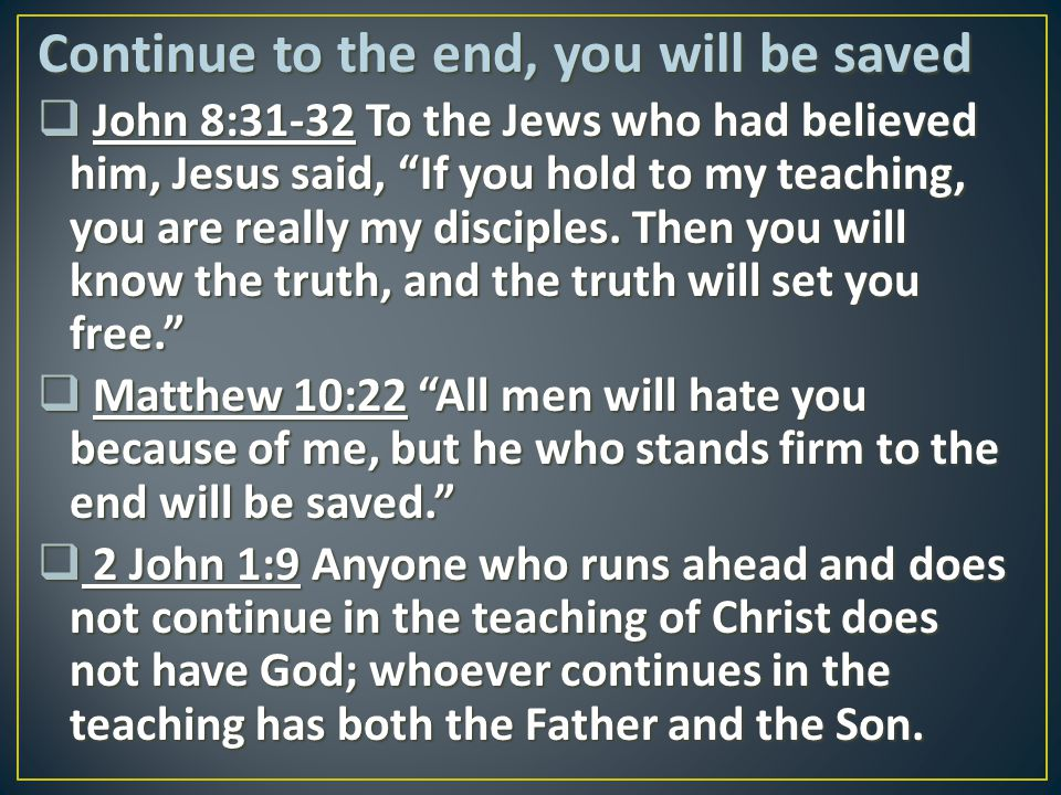 Continue to the end, you will be saved