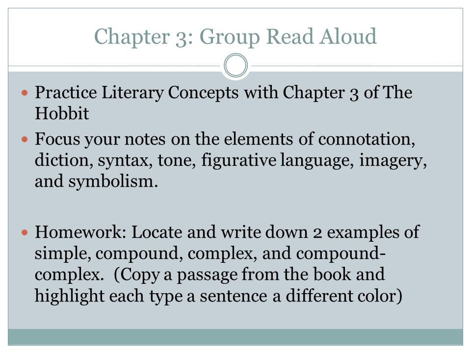 Chapter 3: Group Read Aloud