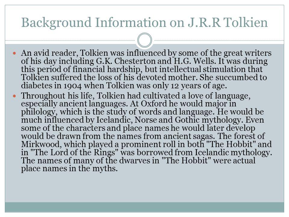 Background Information on J.R.R Tolkien