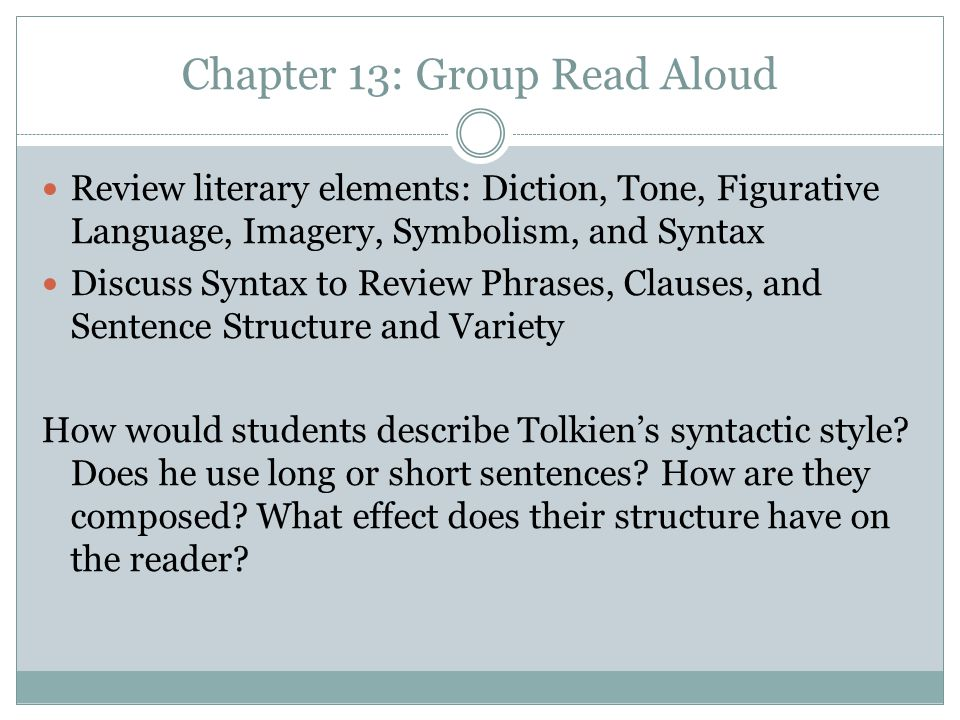 Chapter 13: Group Read Aloud
