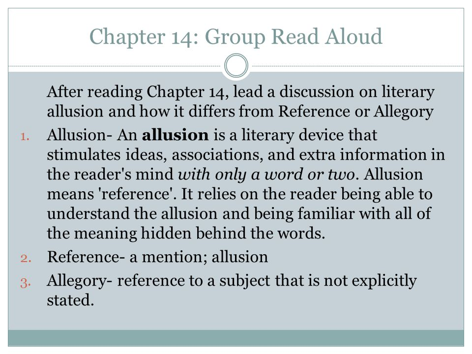 Chapter 14: Group Read Aloud