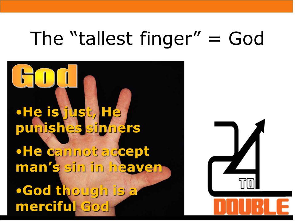 The tallest finger = God