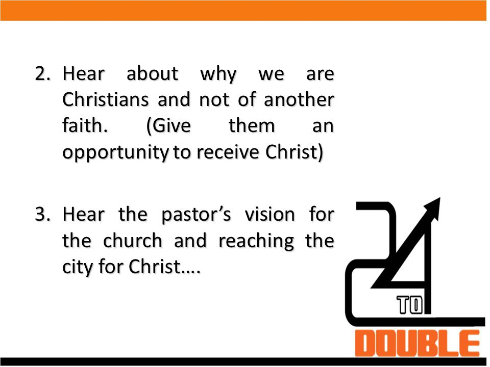 Hear about why we are Christians and not of another faith