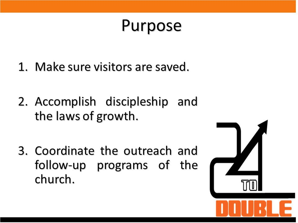 Purpose Make sure visitors are saved.