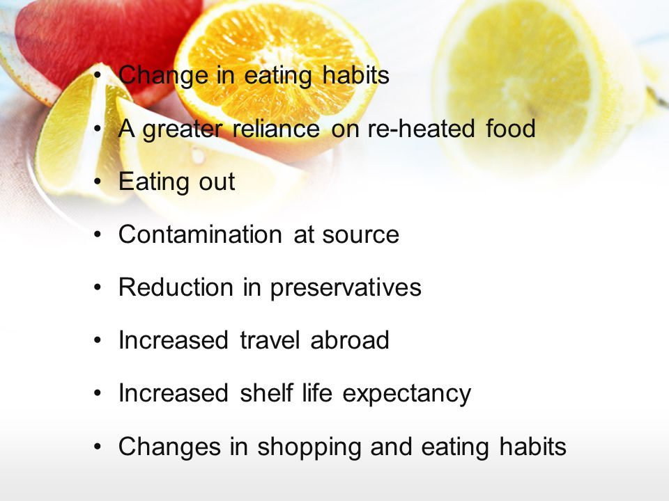 Change in eating habits