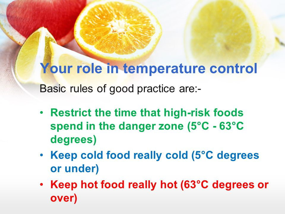 Your role in temperature control