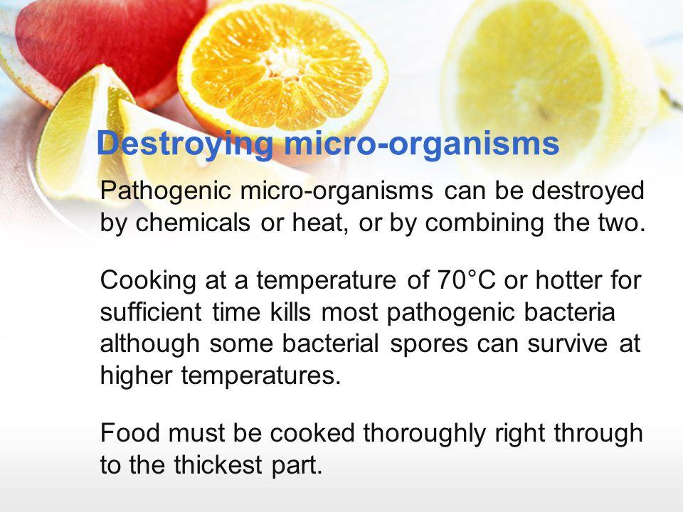 Destroying micro-organisms