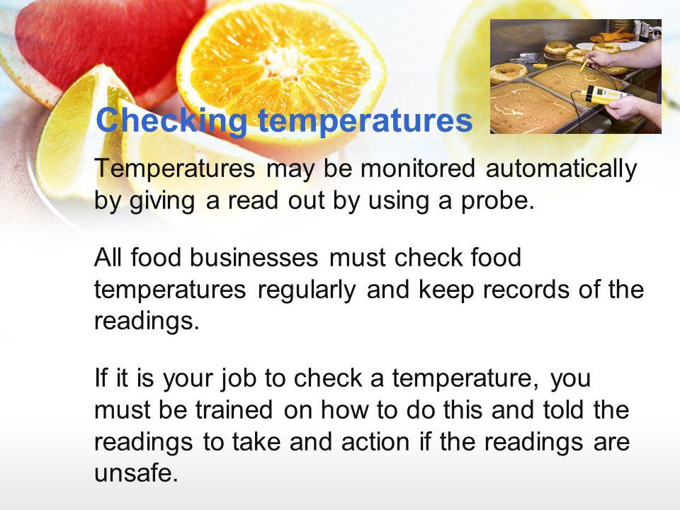 Checking temperatures