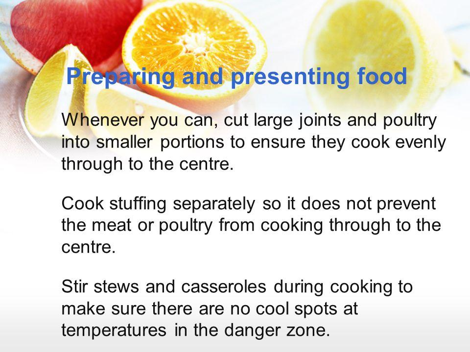 Preparing and presenting food