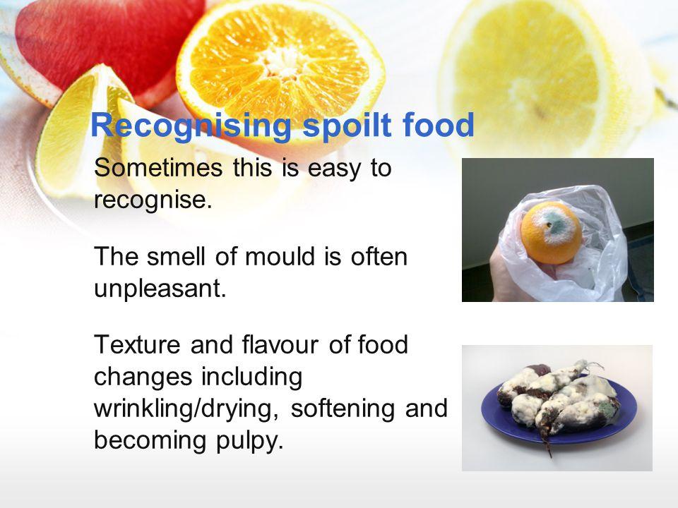 Recognising spoilt food