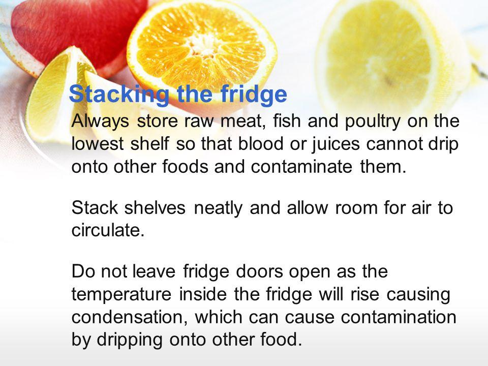 Stacking the fridge