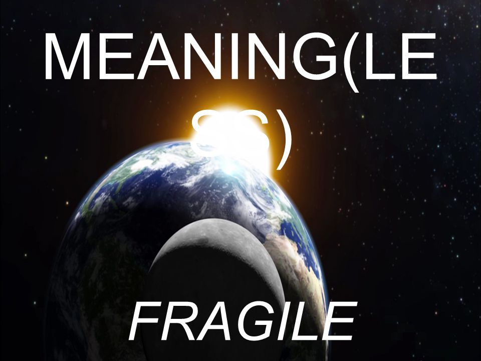 MEANING(LESS) FRAGILE DEVOTION