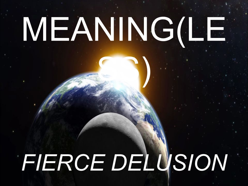 MEANING(LESS) FIERCE DELUSION
