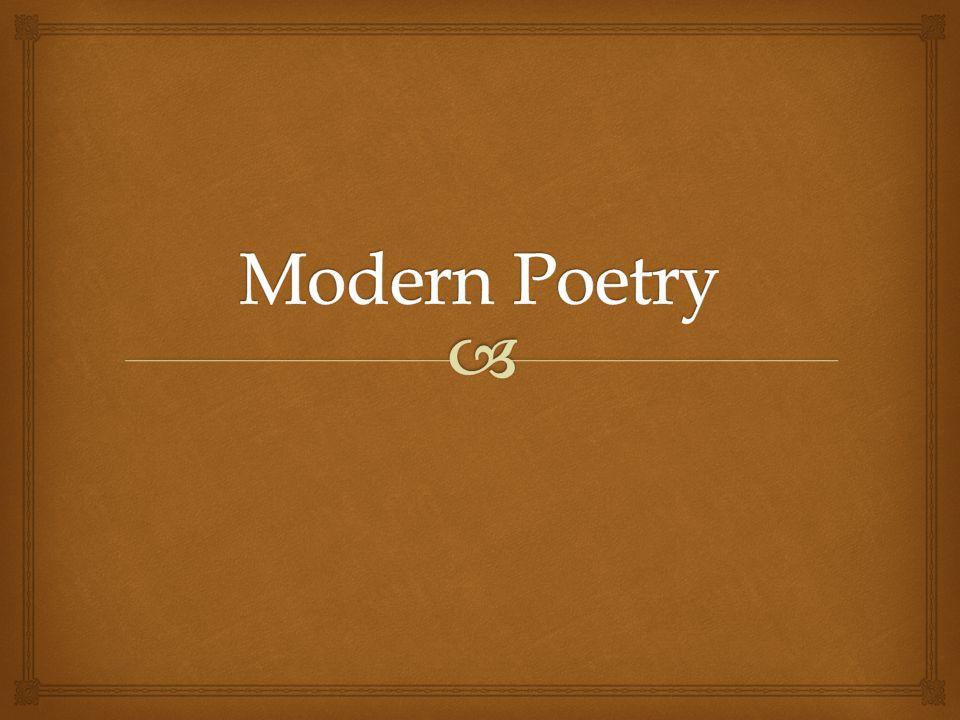 Modern Poetry