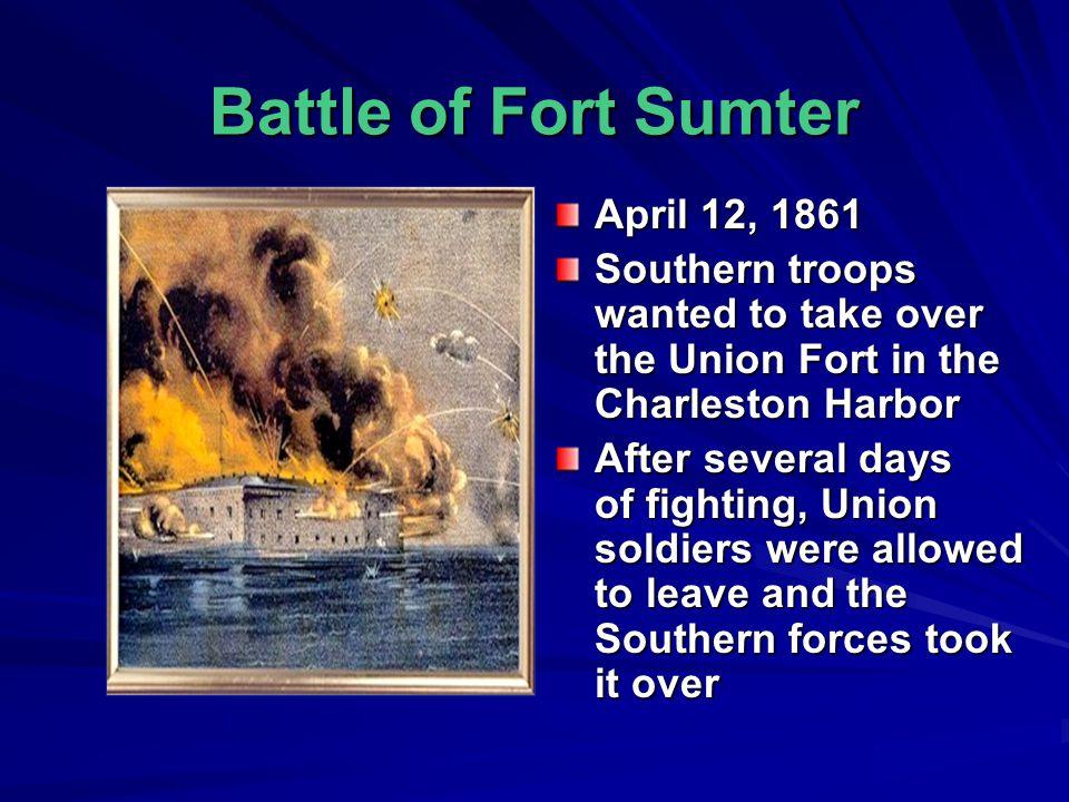 Battle of Fort Sumter April 12, 1861