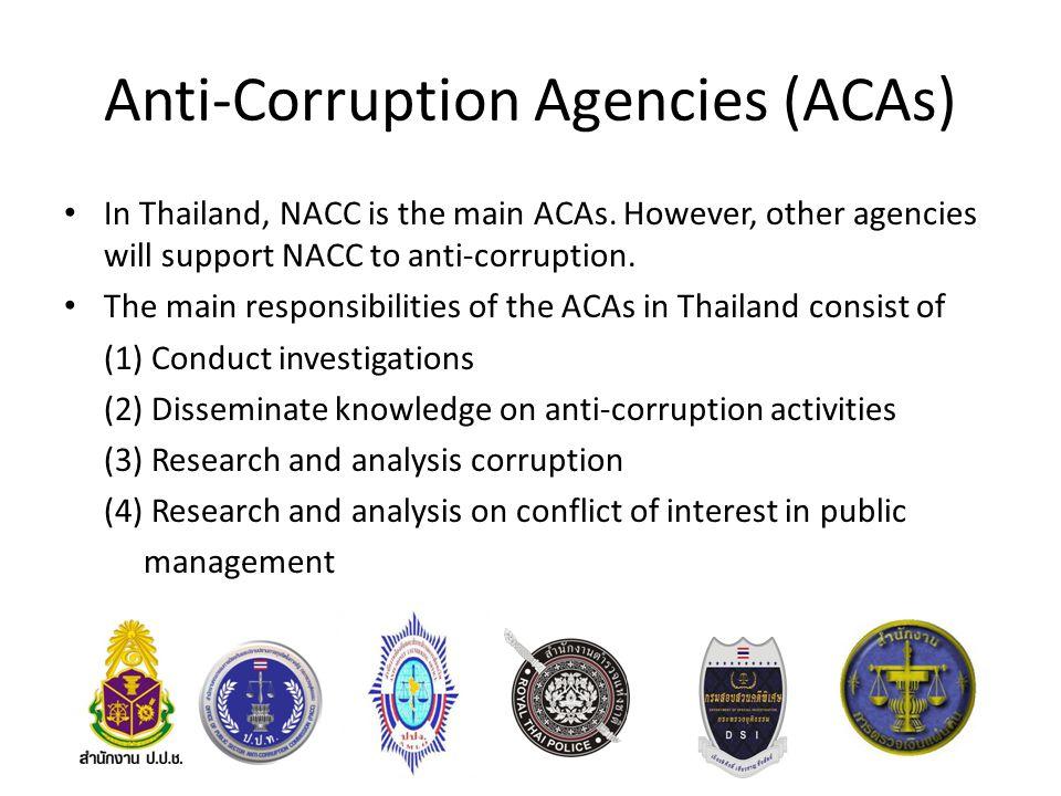 Anti-Corruption Agencies (ACAs)
