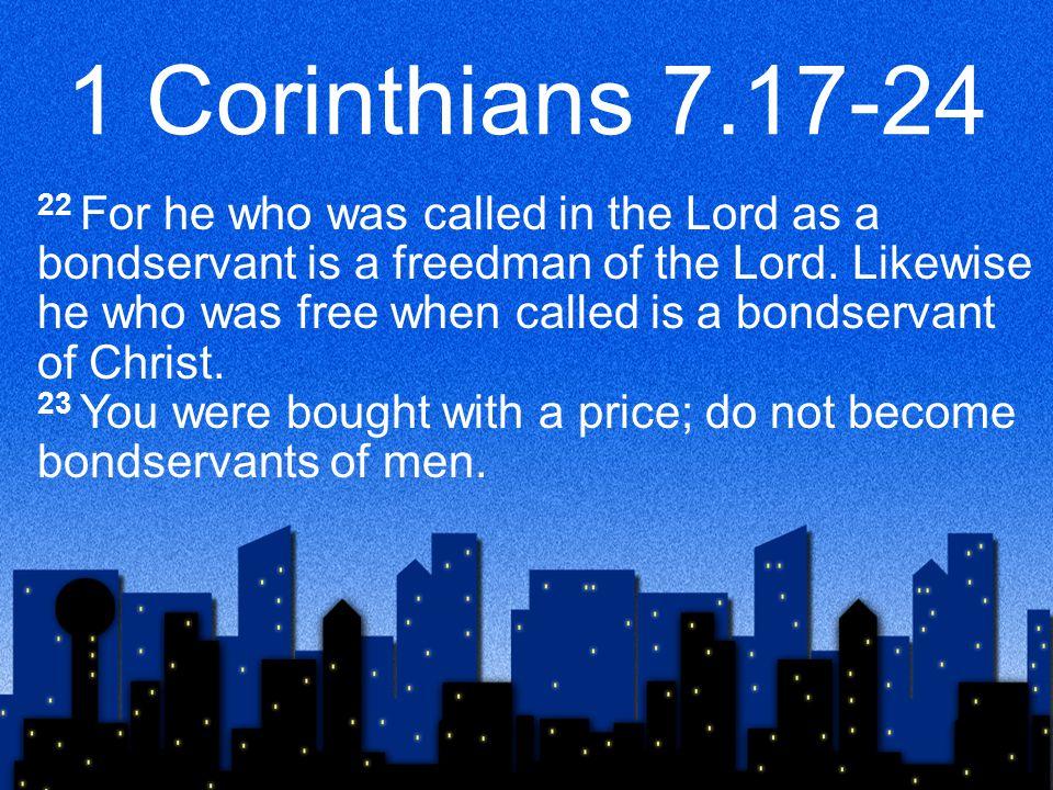1 Corinthians 7.17-24