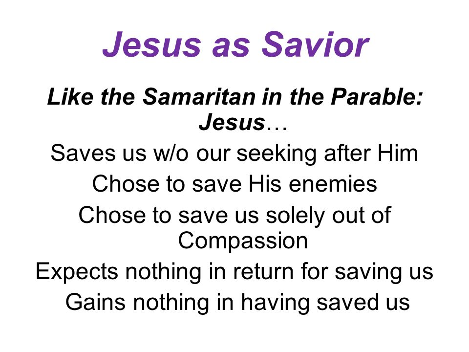 Jesus as Savior