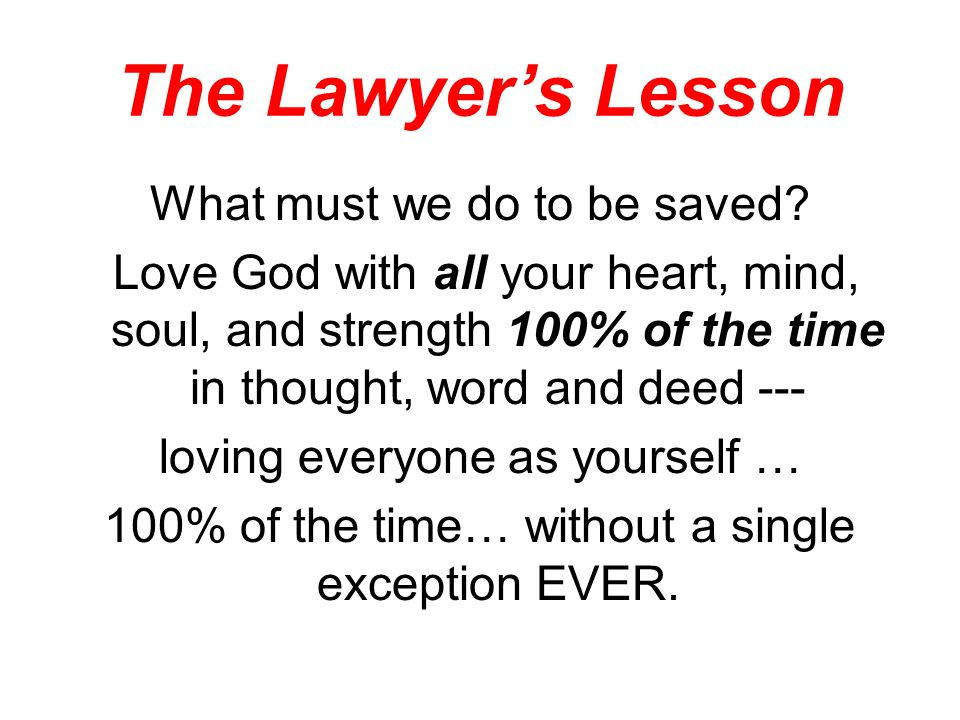 The Lawyer's Lesson