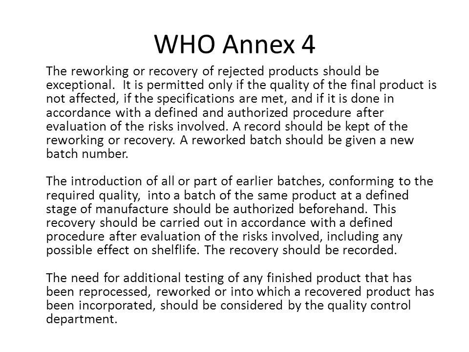 WHO Annex 4