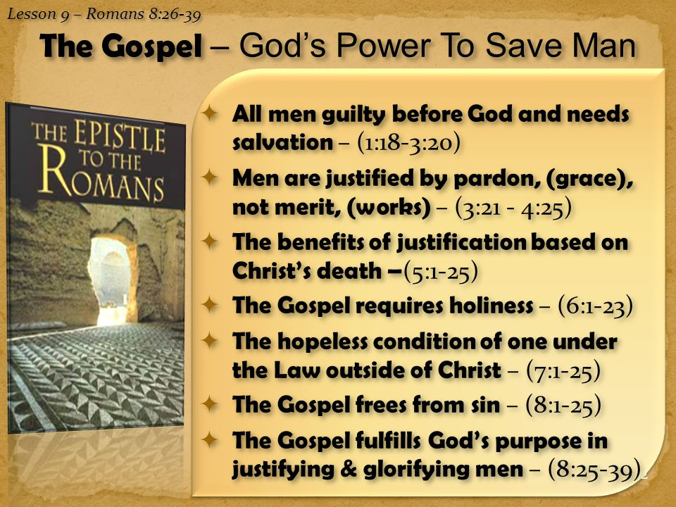The Gospel – God's Power To Save Man