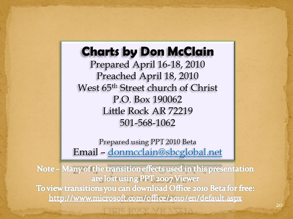 Charts by Don McClain Prepared April 16-18, 2010