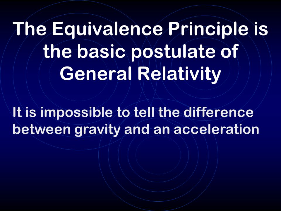 The Equivalence Principle is the basic postulate of General Relativity