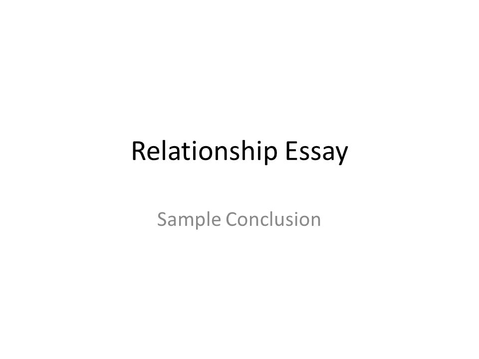 Relationships an essay