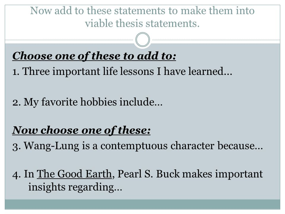 purdue owl strong thesis statements