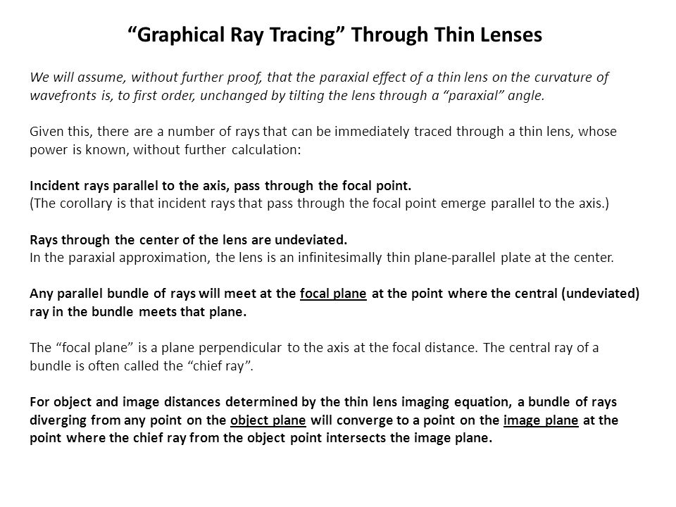 Graphical Ray Tracing Through Thin Lenses
