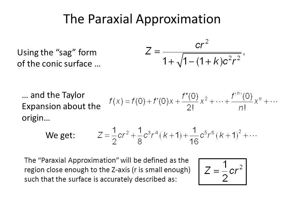 The Paraxial Approximation