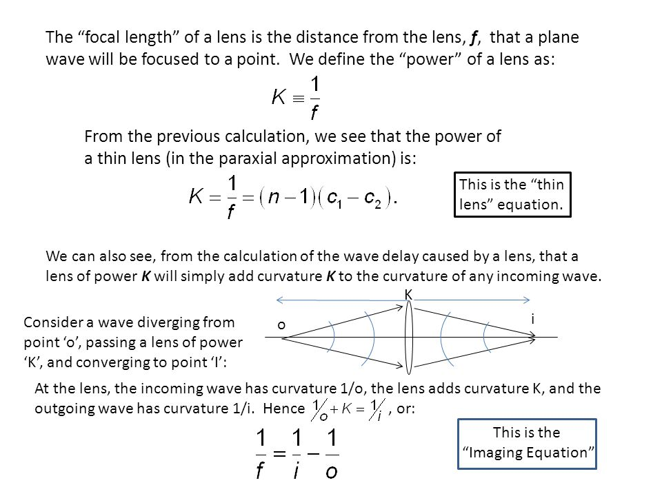 Notes on the derived equations: