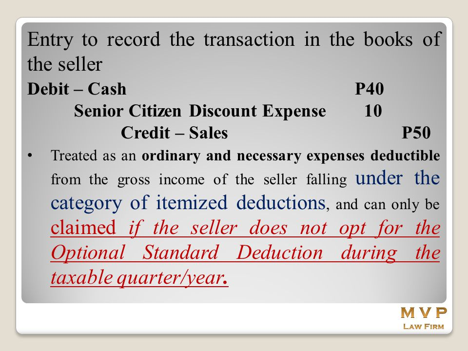 Entry to record the transaction in the books of the seller