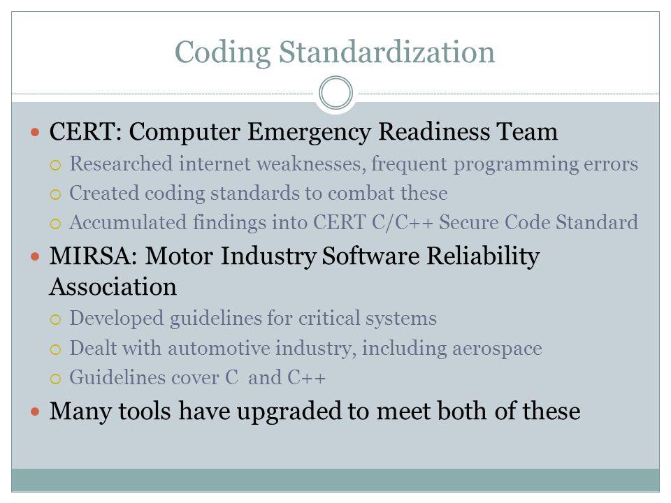 Coding Standardization