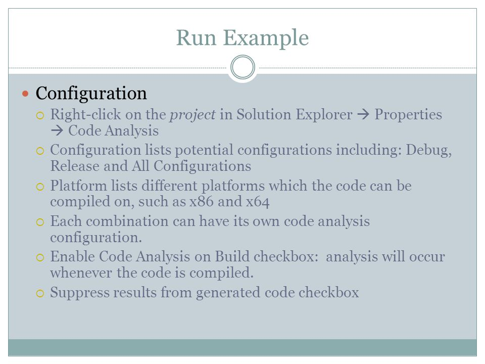 Run Example Configuration