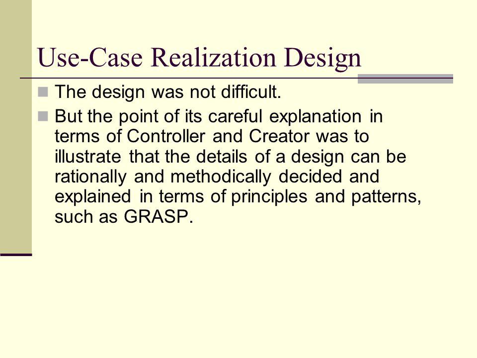 Use-Case Realization Design