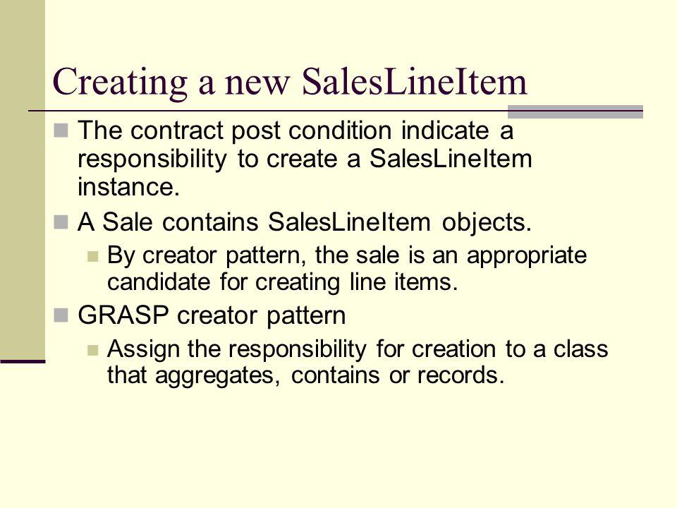 Creating a new SalesLineItem