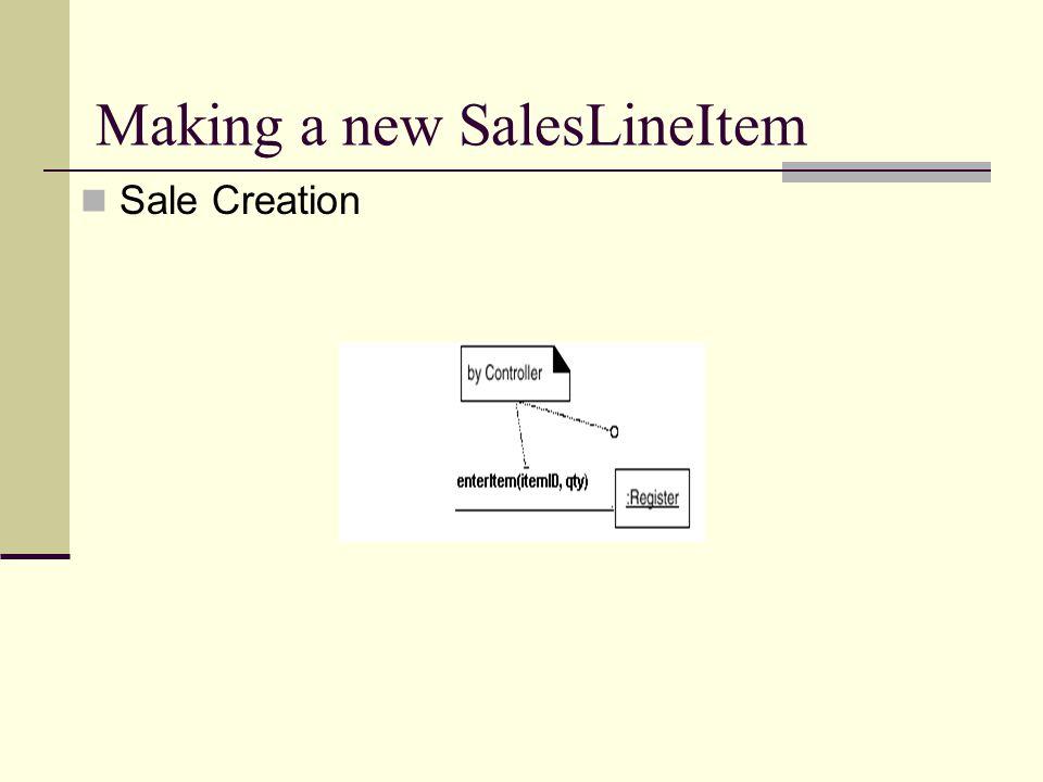 Making a new SalesLineItem